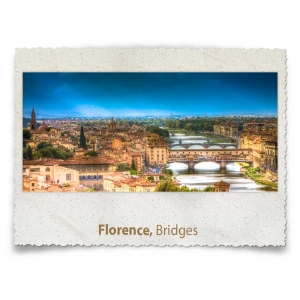Bridges across the Arno River in Florence