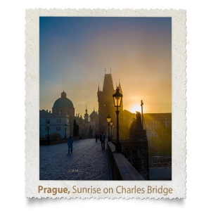 Charles Bridge Sunrise Silhouette, Prague