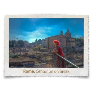 Roman Centurion on break