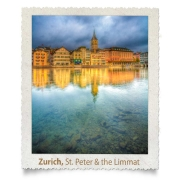 St.-Peter and Limmat River Reflection, Zurich