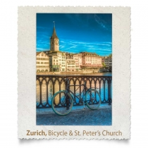 Bicycle and St-Peter's Church, Zurich