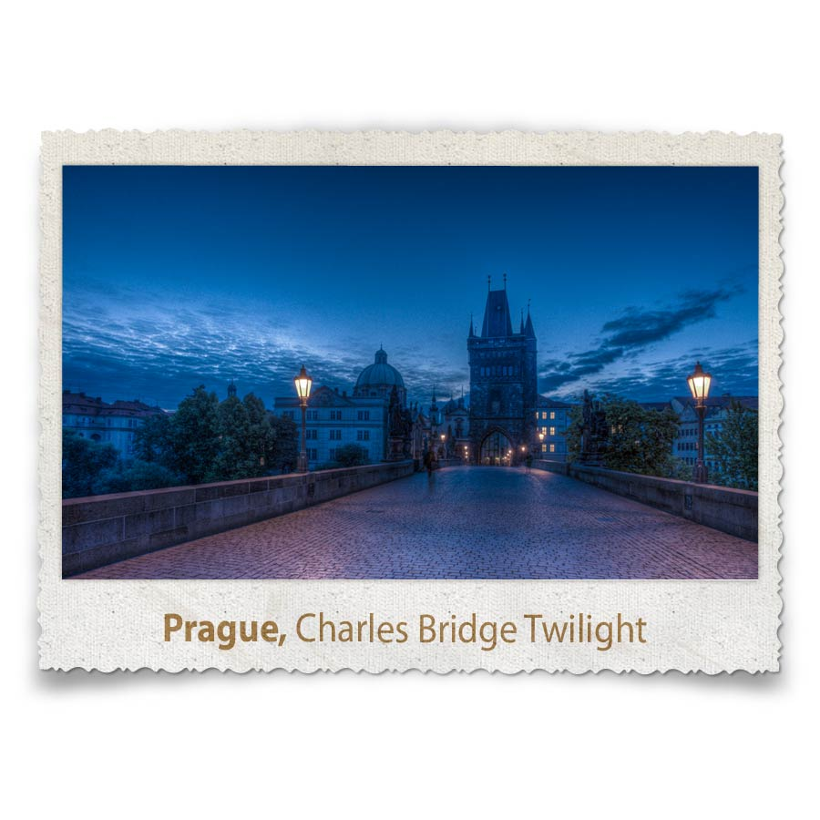 Charles Bridge Twilight, Prague