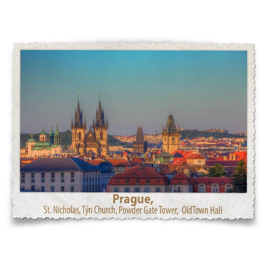 Prague's Landmark Skyline