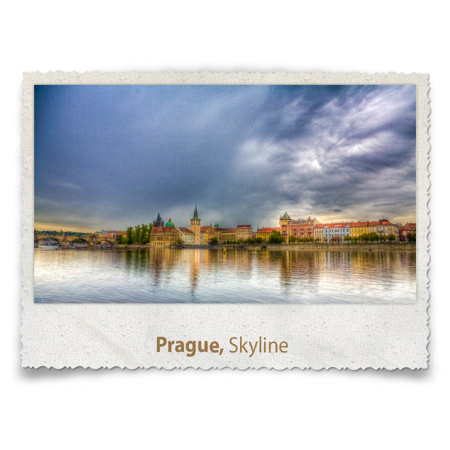 Charles Bridge crossing the Vltava River, Prague