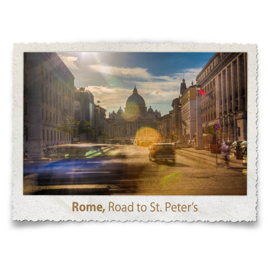 Road to St-Peters, Rome