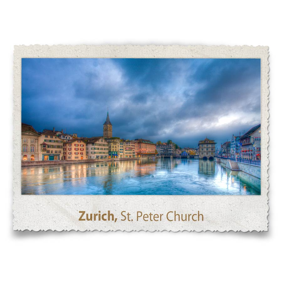 St-Peter's and the Limmat, Zurich