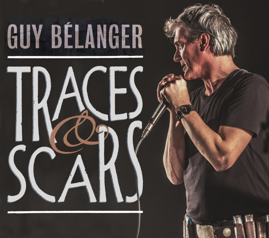 """GUY Belanger - """"traces and scars"""" cover 2017"""