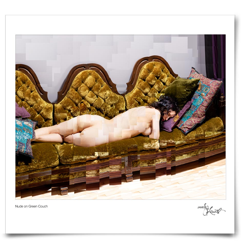 Nude on Green Couch