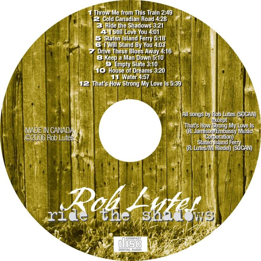 Rob Lutes CD Art