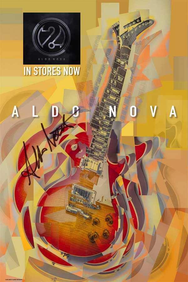 Aldo Nova 2,0 Signed Poster