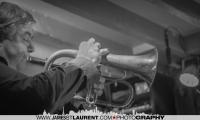 Ivanhoe Jolicoeur playing the flugelhorn