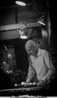 Michael Emenau playing the vibraphone