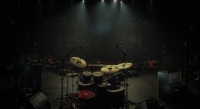 View from behind drumkit