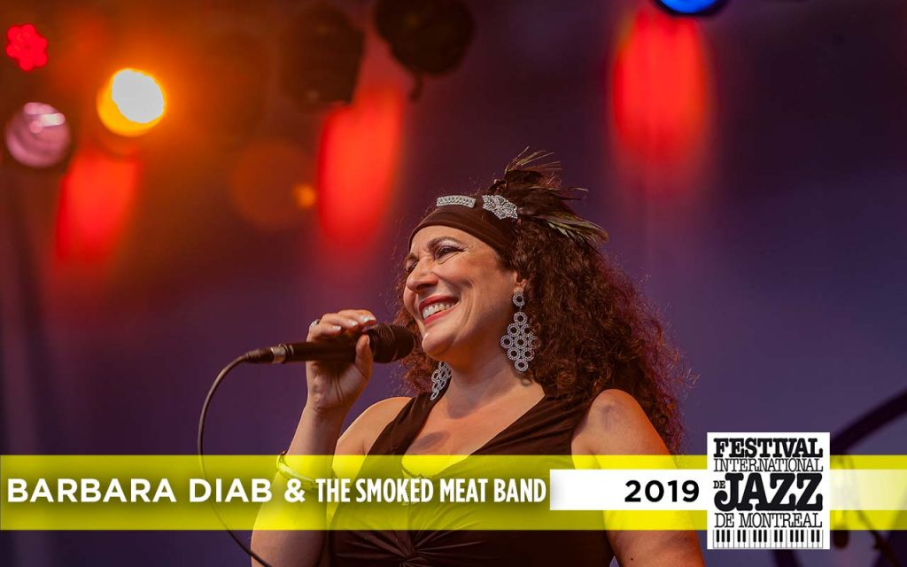 Barb Diab performing at the Montreal Jazz Festival